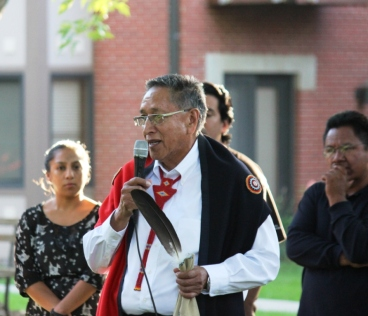Dr. Rudi Mitchell explains the Omaha people's Cedar Ceremony