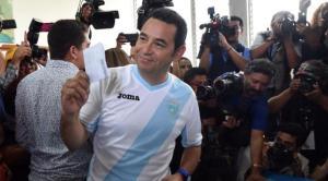 Jimmy Morales. Photo: AFP